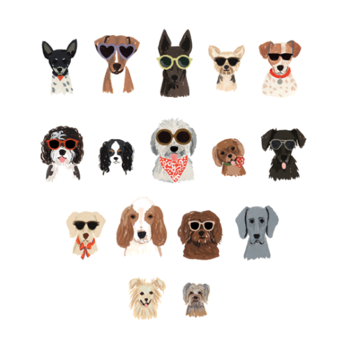 [Tattly] Dog Days Sheet