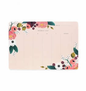 [Rifle Paper Co.] Pink Floral Weekly Desk Pad