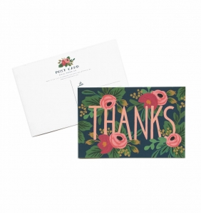 [Rifle Paper Co.] Rosa Thanks Postcards [10 postcards]