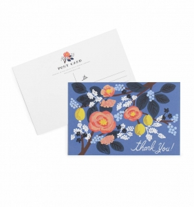 [Rifle Paper Co.] Cobalt Thank You Postcards [10 postcards]