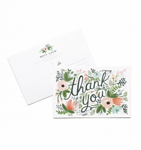 [Rifle Paper Co.] Wildflower Thank You Postcards [10 postcards]