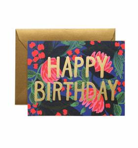 [Rifle Paper Co.] Floral Foil Birthday Card