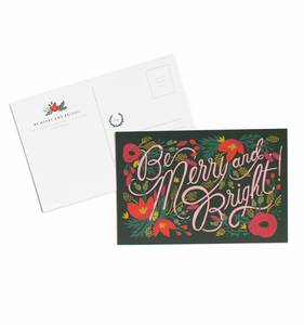 [Rifle Paper Co.] Be Merry and Bright Postcards [10 postcards]