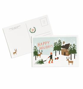 [Rifle Paper Co.] Happy Holidays Postcards [10 postcards]