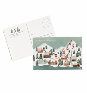 [Rifle Paper Co.] Holiday Snow Scene Postcards [10 postcards]