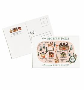 [Rifle Paper Co.] North Pole Map Postcards [10 postcards]