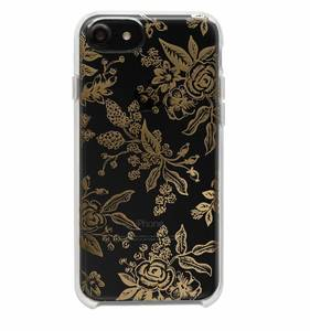 [Rifle Paper Co.] Clear Gold Floral Toile iPhone Case  (iPhone 6/6s/7/8, 6+/7+/8+)