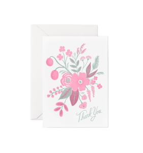 [Rifle Paper Co.] Letterpress Rosy Thank You Card