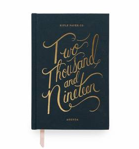 [Rifle Paper Co.] 2019 Hardcover Navy Agenda