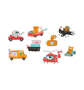 [Tattly] Animal Drivers Set