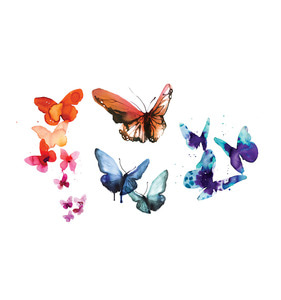 [Tattly] Watercolor Butterflies Set