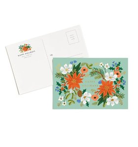[Rifle Paper Co.] Holiday Floral  Postcards [10 postcards]