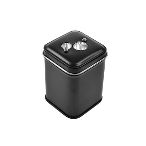[DUX] Sweet Candy Double Hole Pencil Sharpener Tin Black