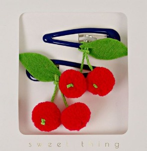 [Meri Meri] Cherries Hair Clips