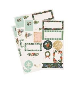 [Rifle Paper Co.] Winter Floral Holiday Gift Stickers [3 Sheets]
