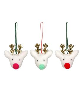 [Meri Meri] Felt Reindeer Head Decorations