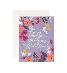 [Rifle Paper Co.] Thank You Maid of Honor Card