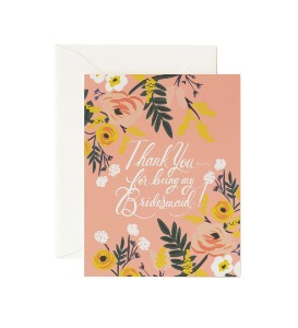 [Rifle Paper Co.] Thank You Bridesmaid Card
