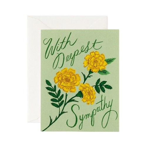 [Rifle Paper Co.] Marigold Sympathy Card