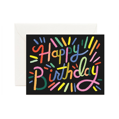 [Rifle Paper Co.] Fireworks Birthday Card