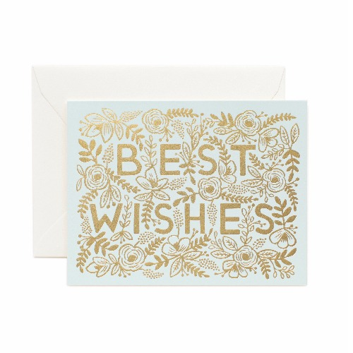[Rifle Paper Co.] Golden Best Wishes Card