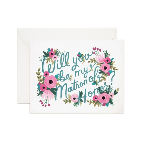 [Rifle Paper Co.] Matron of Honor Card