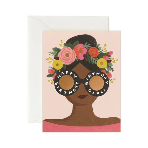 [Rifle Paper Co.] Flower Crown Birthday Girl Card