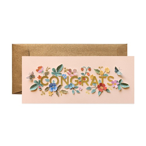 [Rifle Paper Co.] Cut Paper Congrats No.10 Card