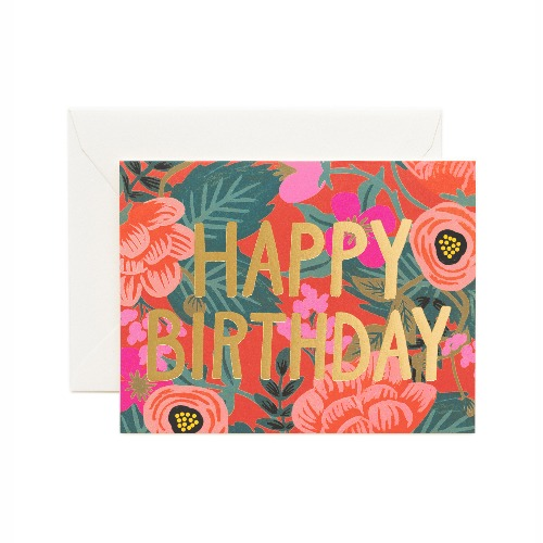 [Rifle Paper Co.] Poppy Birthday Card
