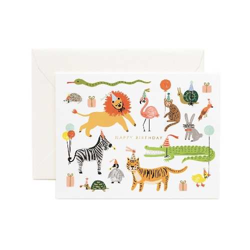 [Rifle Paper Co.] Party Animals Card