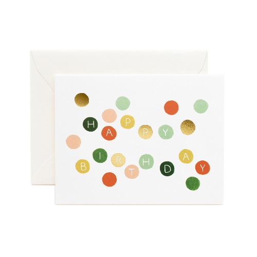 [Rifle Paper Co.] Birthday Dots Card