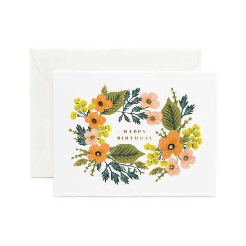 [Rifle Paper Co.] Happy Birthday Bouquet Card