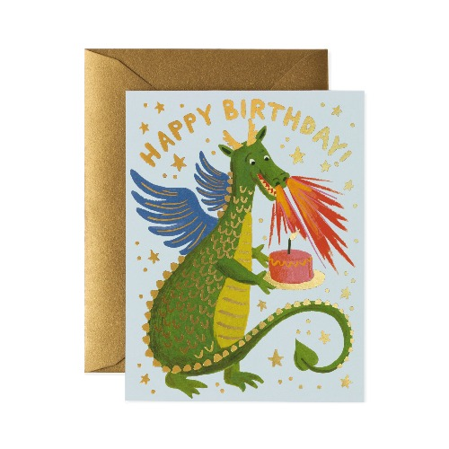 [Rifle Paper Co.] Birthday Dragon Card