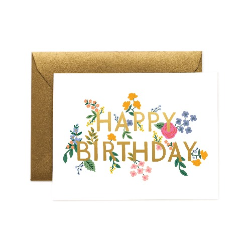 [Rifle Paper Co.] Wildwood Birthday Card