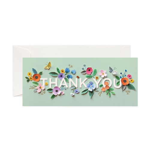 [Rifle Paper Co.] Cut Paper Thank You No.10 Card