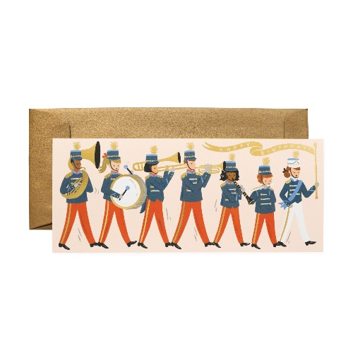 [Rifle Paper Co.] Marching Band Birthday No.10 Card