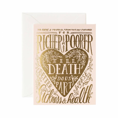 [Rifle Paper Co.] Till Death Do Us Part Card