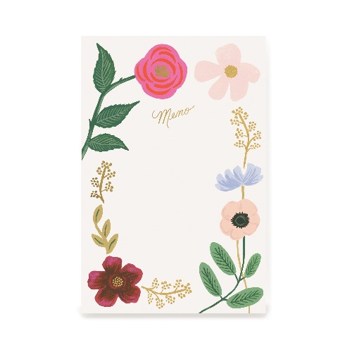[Rifle Paper Co.]  Wildflowers Large Memo Notepad