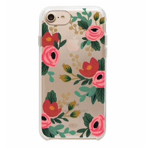 [Rifle Paper Co.] Clear Rosa iPhone Case (iPhone 6/6s/7/8, 6+/7+/8+)