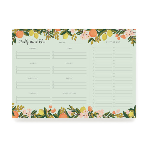 [Rifle Paper Co.] Citrus Floral Weekly Meal Planner