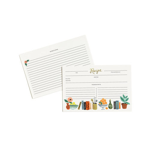 [Rifle Paper Co.] Kitchen Shelf Recipe Cards