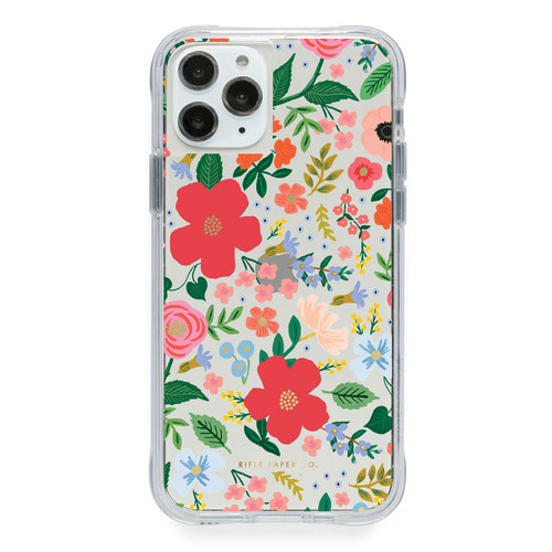 [Rifle Paper Co.] Clear Wild Rose iPhone Case (iPhone 11/XR ,11pro/X/XS )