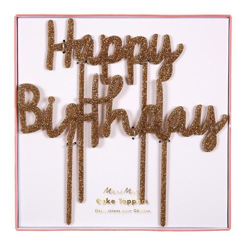 [Meri Meri] Happy Birthday Acrylic Topper
