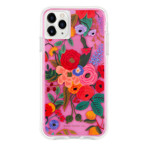 [Rifle Paper Co.] Clear Garden Party Blush iPhone Case (iPhone 11 ,11pro )