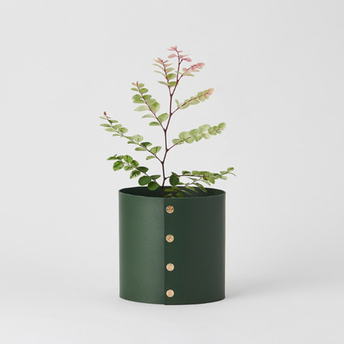 [Plats] Pot cover leather XS - Deep Green