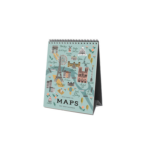 [Rifle Paper Co.] 2021 City Maps Desk Calendar