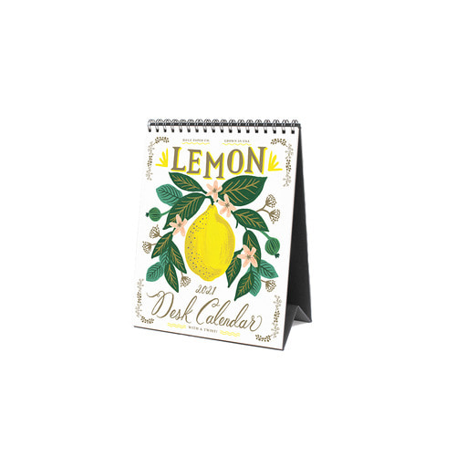 [Rifle Paper Co.] 2021 Lemon Desk Calendar
