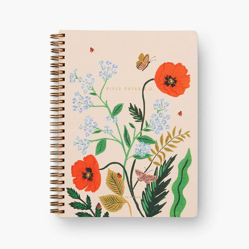 [Rifle Paper Co.] Poppy Botanical Spiral Notebook