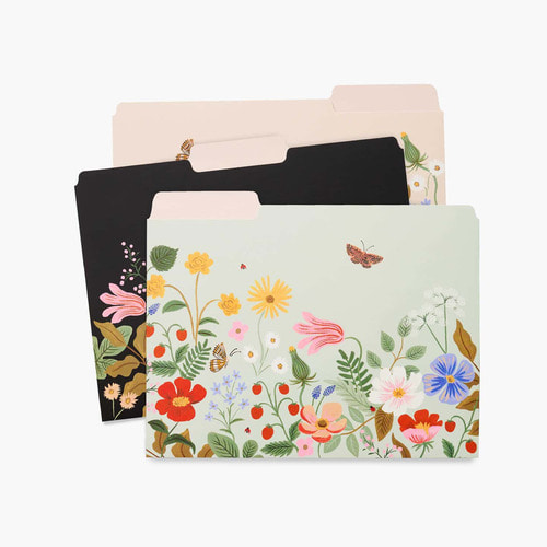 [Rifle Paper Co.] Strawberry Fields File Folder Set