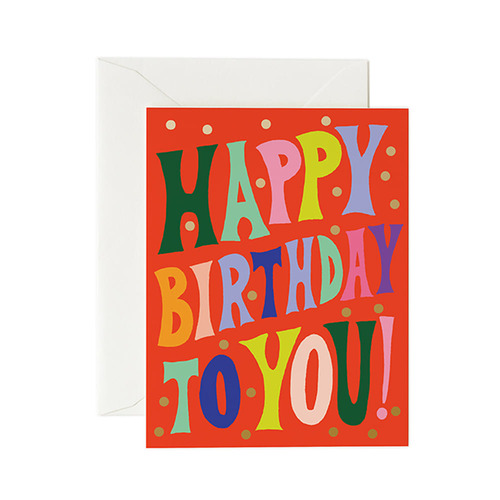 [Rifle Paper Co.] Groovy Birthday Card 생일 카드